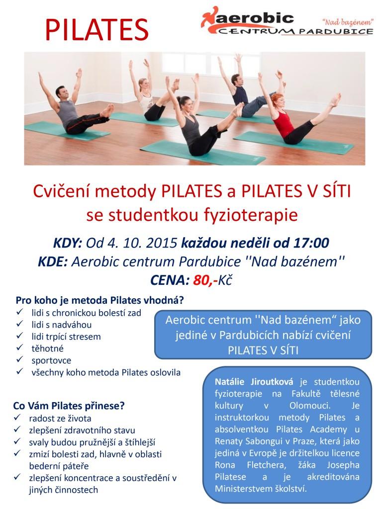 Cvičení metody PILATES se studentkou fyzioterapie