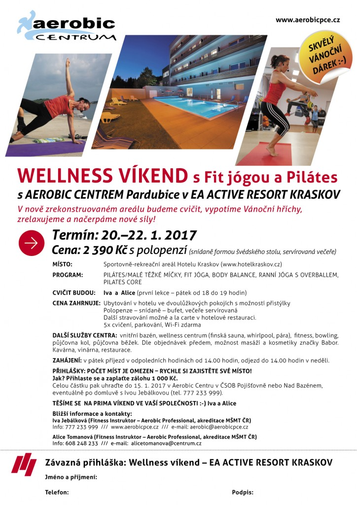 WELLNESS VÍKEND s Fit jógou a Pilátes